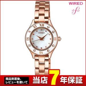 ポイント最大35倍 レビュー7年保証 SEIKO セイコー WIRED f ワイアードエフ メタル AGEK419 国内正規品 レディース 腕時計 白 ホワイト ピンクゴールド|tokeiten