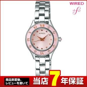 ポイント最大26倍 レビュー7年保証 SEIKO セイコー WIRED f ワイアードエフ メタル AGEK421 国内正規品 レディース 腕時計 白 ホワイト ピンクゴールド tokeiten