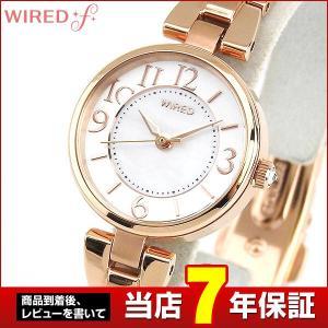 ポイント最大26倍 レビュー7年保証 SEIKO セイコー WIREDf ワイアードエフ AGEK431 国内正規品 レディース 腕時計 白 ホワイト ピンクゴールド メタル|tokeiten