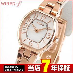 ポイント最大27倍 レビュー7年保証 SEIKO セイコー WIREDf ワイアードエフ AGEK434 国内正規品 レディース 腕時計 金 ピンクゴールド 白 ホワイト メタル tokeiten