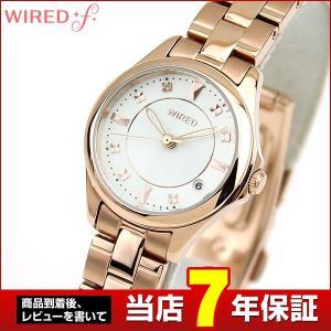 ポイント最大35倍 SEIKO セイコー WIREDf ワイアードエフ クオーツ AGEK439 国内正規品 レディース 腕時計 白 ホワイト 金 ピンクゴールド メタル バンド|tokeiten