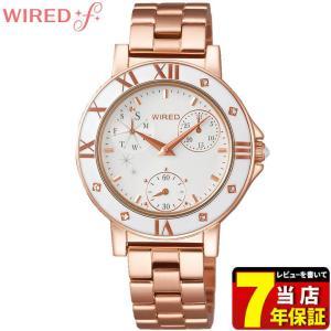 ポイント最大35倍 レビュー7年保証 SEIKO セイコー WIRED f ワイアードエフ AGET401 レディース 腕時計 ピンクゴールド 国内正規品|tokeiten