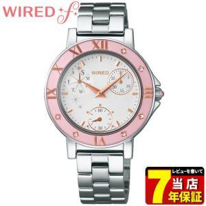 ポイント最大27倍 レビュー7年保証 SEIKO セイコー WIRED f ワイアードエフ AGET402 レディース 腕時計 シルバー ピンク 国内正規品 tokeiten