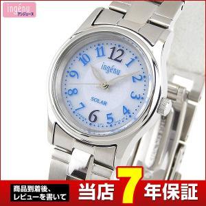 レビュー7年保証 SEIKO セイコー ALBA アルバ ingenu アンジェーヌ ソーラー AHJD091 国内正規品 レディース 腕時計 青 ブルー シルバー メタル バンド|tokeiten