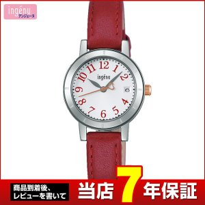 25日から最大27倍 レビューを書いて7年保証 SEIKO セイコー ingenu アンジェーヌ AHJT417 国内正規品 レディース 腕時計 革バンド レザー|tokeiten