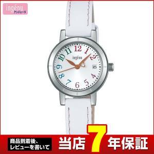 25日から最大27倍 SEIKO セイコー ALBA アルバ ingenu アンジェーヌ AHJT420 国内正規品 レディース 腕時計 革バンド レザー ホワイト|tokeiten