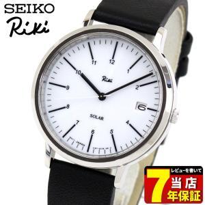 レビュー7年保証 セイコー アルバ リキ 腕時計 SEIKO ALBA Riki スタンダード ソーラー AKPD021 国内正規品 メンズ ペア ブラック 白 ホワイト 革ベルト レザー|tokeiten