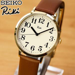 レビュー7年保証 セイコー アルバ リキ 腕時計 SEIKO ALBA Riki スタンダード AKPK427 メンズ 国内正規品 ウォッチ ブラウン ベージュ ゴールド 革ベルト レザー tokeiten