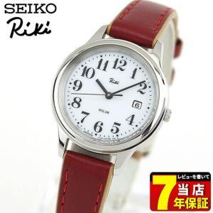 ポイント最大24倍 セイコー アルバ リキ 腕時計 SEIKO ALBA Riki スタンダード ソーラー AKQD025 レディース 国内正規品 白 ホワイト 赤 レッド レザー 革ベルト|tokeiten