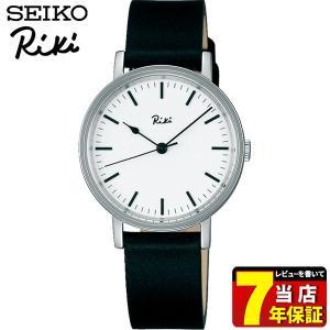 セイコー アルバ リキ 腕時計 SEIKO ALBA Riki スタンダード クオーツ AKQK428 レディース 国内正規品 白 ホワイト 黒 ブラック 革ベルト レザー|tokeiten