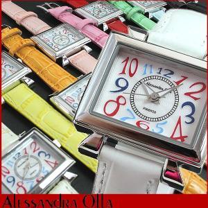 腕時計 レディース アレサンドラオーラ 腕時計 レディース アレッサンドラオーラ AO-2550 シルバー 母の日 ギフト|tokeiten