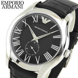 BOX訳あり EMPORIO ARMANI エンポリオアルマーニ メンズ 腕時計 時計 watch ウォッチ レザー 黒 ブラック 銀 シルバー AR1703 海外モデル|tokeiten