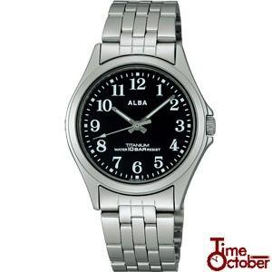 ポイント最大24倍 SEIKO ALBA セイコー アルバ ASSS003 メンズ 腕時計 チタン シルバー ブラック 10気圧防水|tokeiten