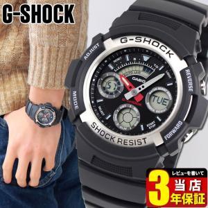 レビュー3年保証 G-SHOCK BASIC Gショック ジーショック g-shock gショック AW-590-1A ブラック 黒 アナデジ G-SHOCK BASIC 腕時計 逆輸入|tokeiten