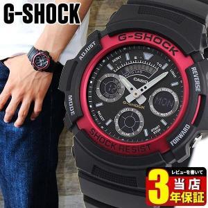 レビュー3年保証 G-SHOCK Gショック ジーショック g-shock gショック 腕時計 メンズ AW-591-4A 黒 赤