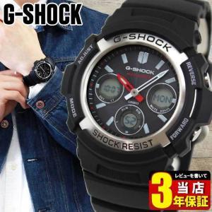 CASIO カシオ Gショック 電波ソーラー G-SHOCK ジーショック ブラック 黒 AWG-M100-1A 海外モデル BASIC アナログ デジタル アナデジ 逆輸入|tokeiten