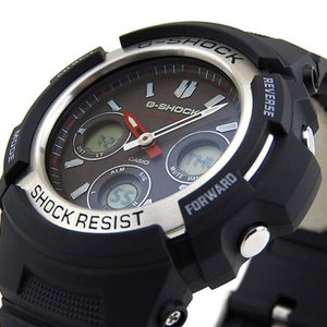 CASIO カシオ Gショック 電波ソーラー G-SHOCK ジーショック ブラック 黒 AWG-M100-1A 海外モデル BASIC アナログ デジタル アナデジ 逆輸入|tokeiten|05
