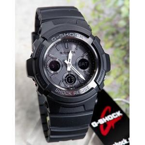 Gショック G-SHOCK ジーショック 電波ソーラー AWG-M100B-1A ジーショック 黒 G-SHOCK Gショック BASIC アナログ アナデジ 腕時計 ビジネス カジュアル 逆輸入|tokeiten|03