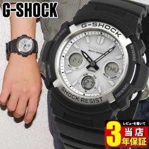 CASIO カシオ G-SHOCK AWG-M100S-7A 電波ソーラー 海外モデル メンズ 腕時計 タフソーラー アナログ ブラック 白 ホワイト 逆輸入|tokeiten