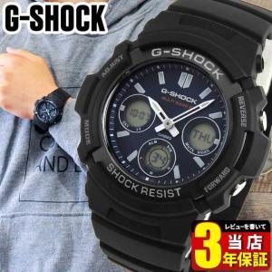 CASIO カシオ G-SHOCK AWG-M100SB-2A海外モデル 電波ソーラー メンズ 腕時計 アナログ デジタル ネイビー ブルー 青 黒 ブラック 逆輸入|tokeiten