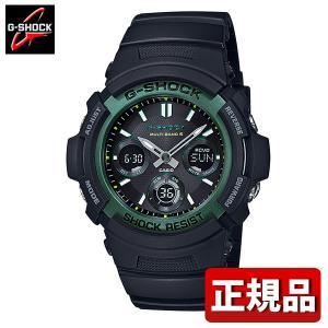 G-SHOCK Gショック CASIO カシオ タフソーラー AWG-M100SF-1A3JR FIRE PACKAGE'19 メンズ 腕時計 国内正規品 黒 ブラック 緑 グリーン ウレタン|tokeiten