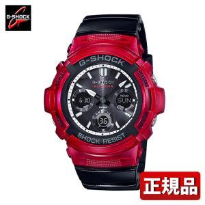 G-SHOCK Gショック CASIO カシオ タフソーラー 電波 AWG-M100SRB-4AJF メンズ 腕時計 国内正規品 黒 ブラック 白 ホワイト 赤 レッド ウレタン|tokeiten