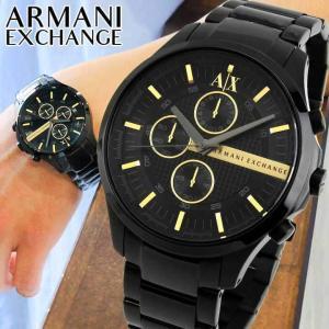 ARMANI EXCHANGE ax armani exchange アルマーニ エクスチェンジ クロノグラフ メンズ 腕時計 時計 メタル バンド 黒 金 ブラック ゴールド AX2164 海外モデル tokeiten
