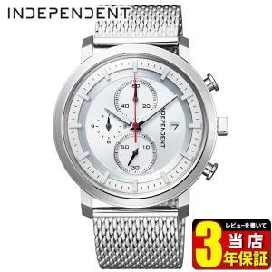 歩数計付 シチズン インディペンデント 時計 メンズ BA5-813-11 CITIZEN INDEPENDENT 国内正規品 腕時計 クロノグラフ ビジネス メタル メッシュ シルバー|tokeiten