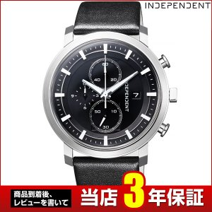 歩数計付 シチズン インディペンデント 時計 メンズ BA5-813-50 CITIZEN INDEPENDENT 国内正規品 腕時計 クロノグラフ ビジネス カレンダー 革ベルト ブラック|tokeiten