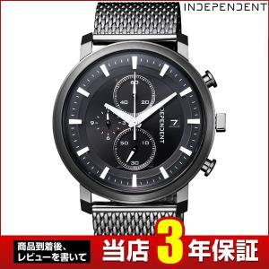 歩数計付 シチズン インディペンデント 時計 メンズ BA5-848-51 CITIZEN INDEPENDENT 国内正規品 腕時計 クロノグラフ ビジネス メタル メッシュ ブラック 黒|tokeiten