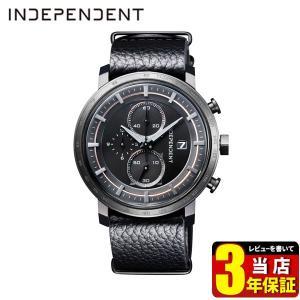 歩数計付 シチズン インディペンデント 腕時計 メンズ クロノグラフ 限定モデル カレンダー BA5-945-50 CITIZEN INDEPENDENT 国内正規品 ブラック レザー|tokeiten
