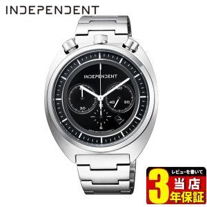 歩数計付 シチズン インディペンデント 時計 メンズ クロノグラフ 10気圧防水 カレンダー BA7-018-51 ブルヘッド CITIZEN INDEPENDENT 国内正規品 腕時計|tokeiten