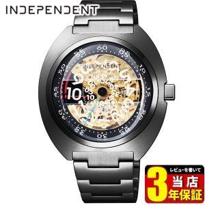 歩数計付 シチズン インディペンデント 時計 メンズ 自動巻き メカニカル 防水 10気圧 BJ3-446-91 CITIZEN INDEPENDENT 国内正規品 限定モデル 腕時計 ブラック|tokeiten