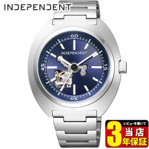 歩数計付 シチズン インディペンデント 時計 メンズ 自動巻き メカニカル 防水 10気圧 BJ3-616-71 CITIZEN INDEPENDENT 国内正規品 腕時計 ブルー メタル|tokeiten