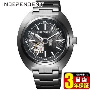 歩数計付 シチズン インディペンデント 時計 メンズ 自動巻き メカニカル 防水 10気圧 BJ3-641-51 CITIZEN INDEPENDENT 国内正規品 腕時計 ブラック メタル|tokeiten
