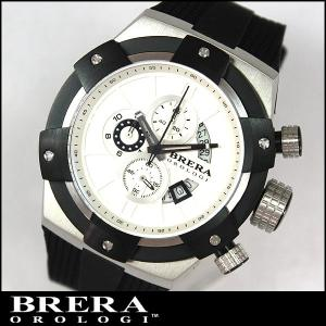 BRERA OROLOGI ブレラ オロロジ SUPERSPORTIVO スーパースポルティーボ BRSSC4905 クロノグラフ ブラック 黒 ラバーベルト並行輸入品|tokeiten