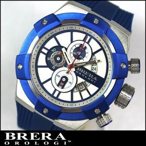 BRERA OROLOGI ブレラ オロロジ SUPERSPORTIVO スーパースポルティーボ BRSSC4917 クロノグラフ ブルー 青 ラバーベルト並行輸入品|tokeiten
