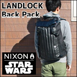 NIXON ニクソン ランドロック スターウォーズ ダースベイダー STAR WARS  リュック C1953SW-2244-00 海外モデル メンズ バッグ 黒 ブラック レザー ポリエステル|tokeiten