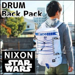 22日から最大42倍 NIXON ニクソン ドラム バックパック スターウォーズ R2-D2 C2557SW-2379-00 海外モデル メンズ バッグ 白 ホワイト 青 ブルー ナイロン|tokeiten