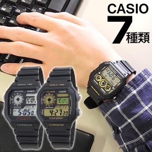 レビューを書いてメール便で送料無料 CASIO カシオ 海外モデル デジタル メンズ 腕時計 黒 ブラック ランニング スポーツ チープカシオ チプカシ|tokeiten
