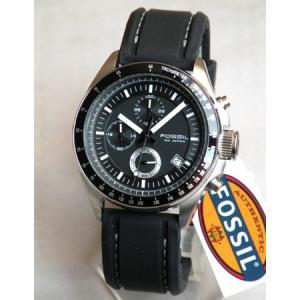 FOSSILフォッシル メンズ 腕時計 CH2573 クロノグラフ 黒 ブラック ラバーバンド 海外モデル|tokeiten