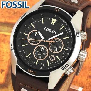 FOSSIL フォッシル CH2891 海外モデル メンズ 腕時計 ウォッチ 革バンド レザー アナログ 黒 ブラック 茶 ブラウン|tokeiten