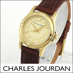 Charles Jourdan シャルルジョルダン CJ133-21-6 133.21.6 海外モデル レディース 腕時計 ウォッチ 茶 ブラウン 金 ゴールド|tokeiten