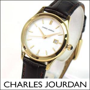 レビュー送料無料 Charles Jourdan シャルルジョルダン レディース 腕時計 ウォッチ 金 ゴールド 茶 ダークブラウン CJ134-21-6 134.21.6|tokeiten