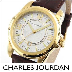 Charles Jourdan シャルルジョルダン CJ140-11-6 140.11.6 海外モデル メンズ 腕時計 ウォッチ 茶 ブラウン 金 ゴールド カレンダー|tokeiten