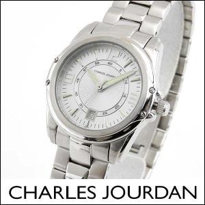 Charles Jourdan シャルルジョルダン CJ140-22-1 140.22.1 海外モデル レディース 腕時計 ウォッチ 白 ホワイト 銀 シルバー カレンダー ビジネス|tokeiten