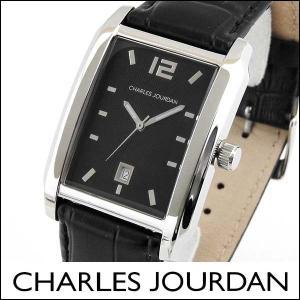 Charles Jourdan シャルルジョルダン CJ141-12-7 141.12.7 海外モデル メンズ 腕時計 ウォッチ 黒 ブラック 銀 シルバー カレンダー|tokeiten