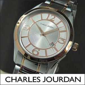 Charles Jourdan シャルルジョルダン CJ163-17-1 163.17.1 メンズ 腕時計 時計 シルバー ピンクゴールド|tokeiten