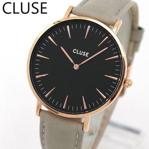 CLUSE クルース CL18018 海外モデル La Boheme ラ・ボエーム アナログ レディース 腕時計 ウォッチ 黒 ブラック グレー 革バンド レザー tokeiten