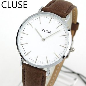 CLUSE クルース La Boheme ラ・ボエーム CL18210 海外モデル レディース 腕時計 38mm 茶 ブラウン 革バンド レザー カジュアル tokeiten